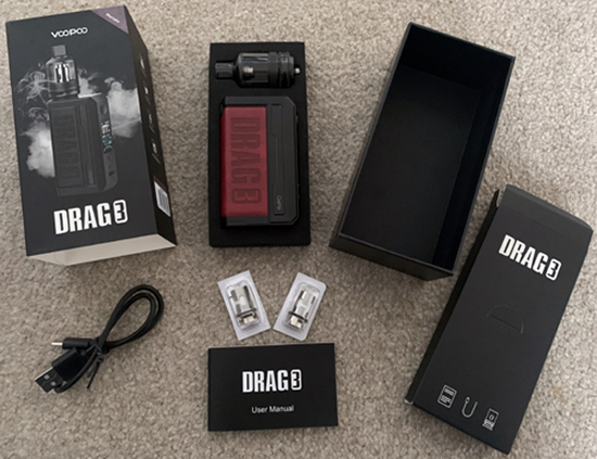 Voopoo Drag 3 Kit Contents