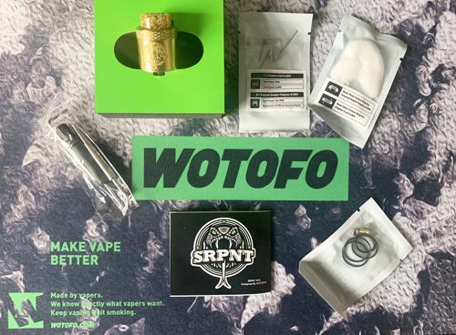 Wotofo SRPNT Box Contents